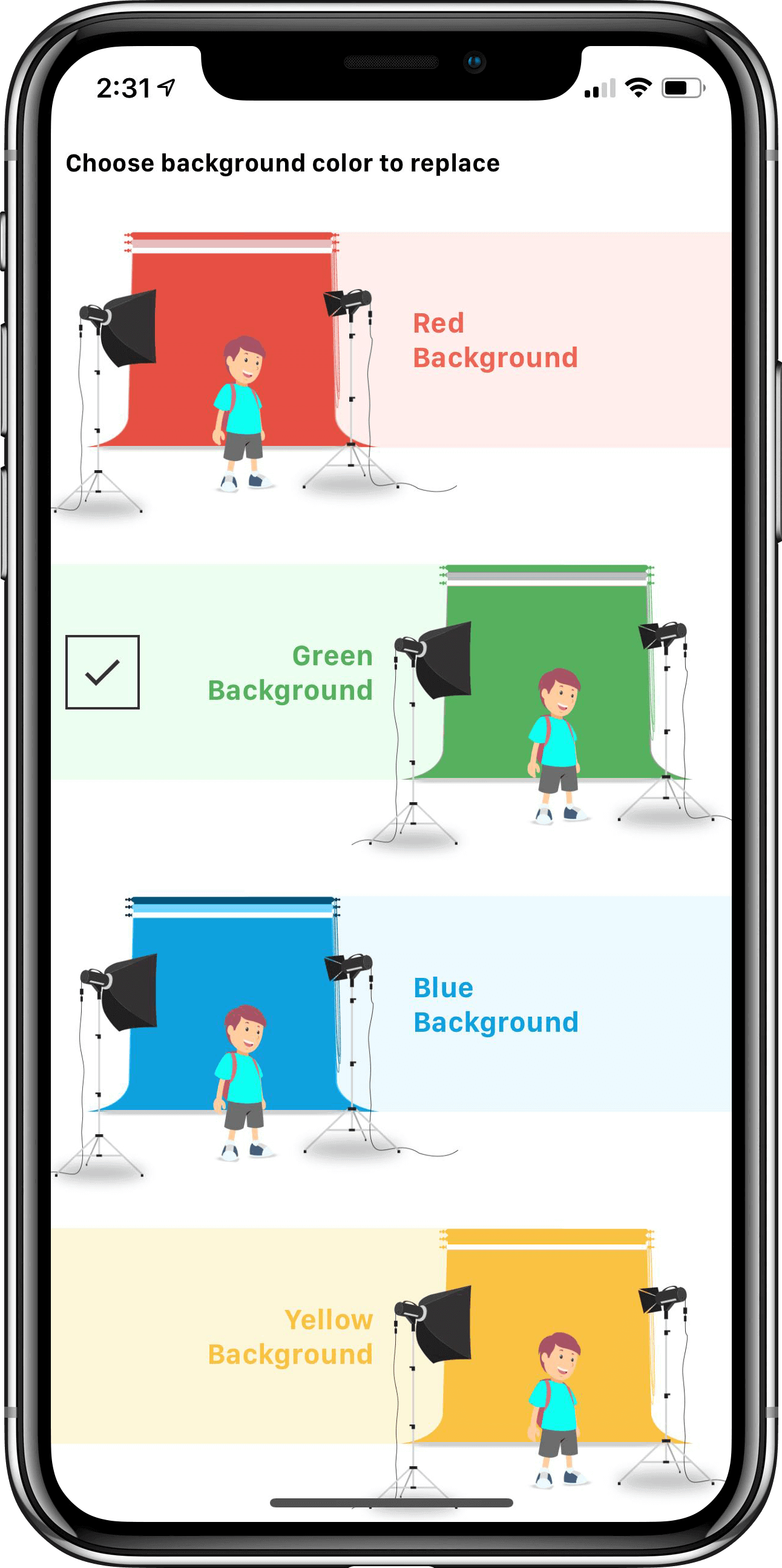 The most easiest Chroma key green screen Application  Create